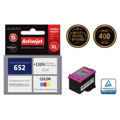 Activejet AH-652CR ink for Hewlett Packard 652 F6V24AE