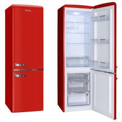 Amica KGCR 387100 R fridge-freezer Freestanding 244 L Red