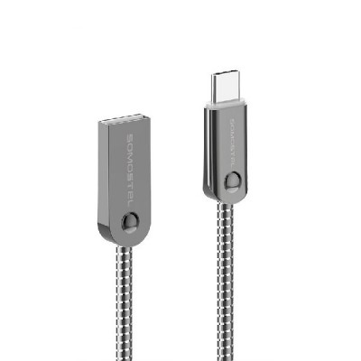 SOMOSTEL CABLE TYP-C 3.1 METALIC/SILVER SMS-BJ01