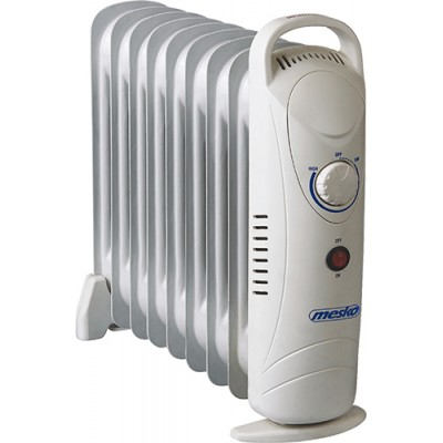 Mesko MS7805 electric space heater Oil electric space heater Indoor White 1000 W