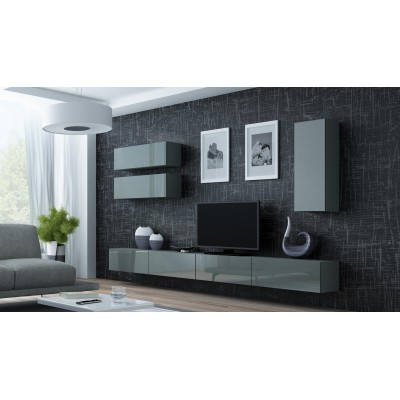 "Cama Cabinet VIGO ""90"" full 90/35/32 grey/grey gloss"