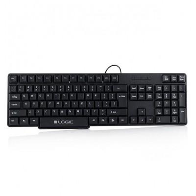 Logic LK-12 keyboard USB QWERTY English Black