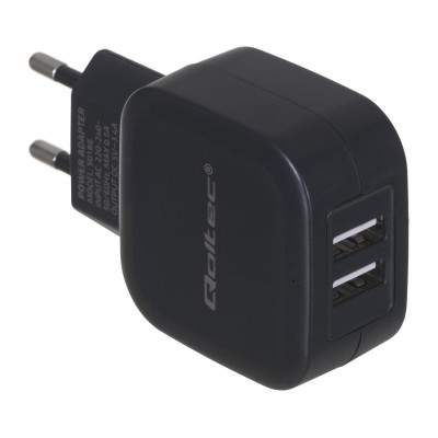Qoltec 50186 mobile device charger Indoor Black