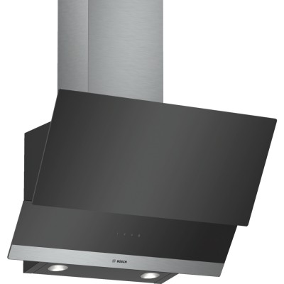 Bosch DWK065G60 cooker hood 530 m³/h Wall-mounted Black,Stainless steel C