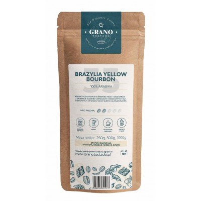 Grano Tostado Brazylia Yellow Burbon Coffee, medium ground  1 kg