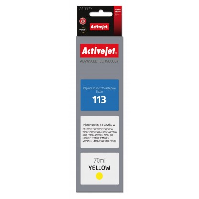 Activejet AE-113Y for Epson, Epson 113 C13T06B440 compatible; Supreme; 70 ml; yellow.