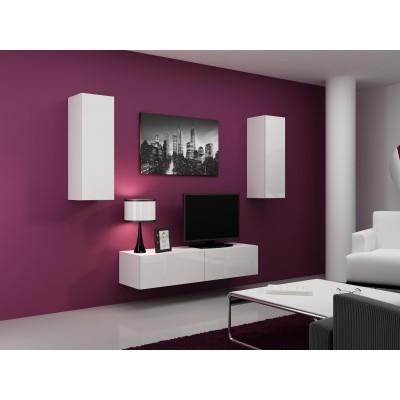 Cama Living room cabinet set VIGO 7 white/white gloss