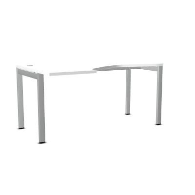 Biurko ART BSA48 LEWE 160x100xH.76 biały/metal