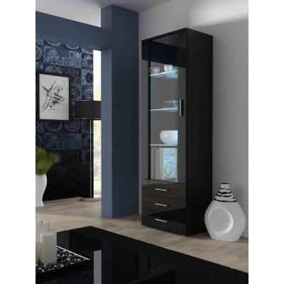 Cama display cabinet SOHO S1 black/black gloss