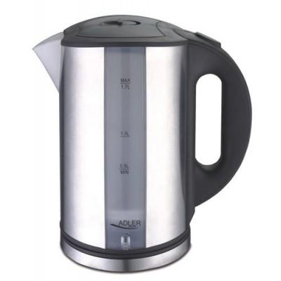 Adler AD 1216 electric kettle 1.7 L Black,Silver 2200 W