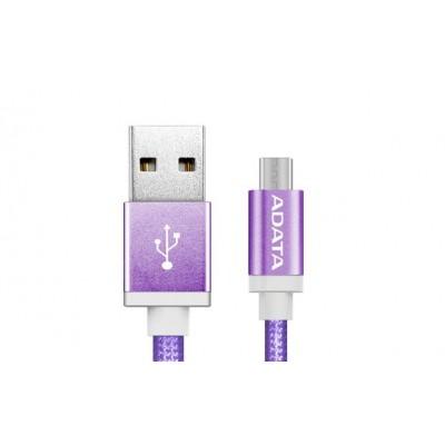 ADATA 1m, USB2.0-A/USB2.0 Micro-B USB cable USB A Micro-USB B Purple
