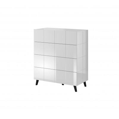 Cama chest of drawers 4D REJA white gloss/white gloss
