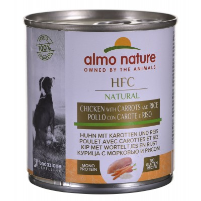 ALMO NATURE Classic Dog Kurczak, marchew i ryż 280g