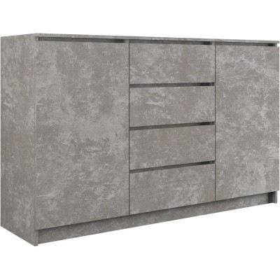 Topeshop 2D4S 140 BETON chest of drawers