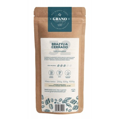 Grano Tostado Brazylia Cerrado Whole Bean Coffee 1000 g