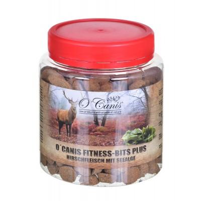 O'CANIS Fitnes Bits plus 300g, słoik PET Przysmak trenerski: jeleń z selerem