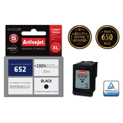 Activejet AH-652BR ink for Hewlett Packard 652 F6V25AE