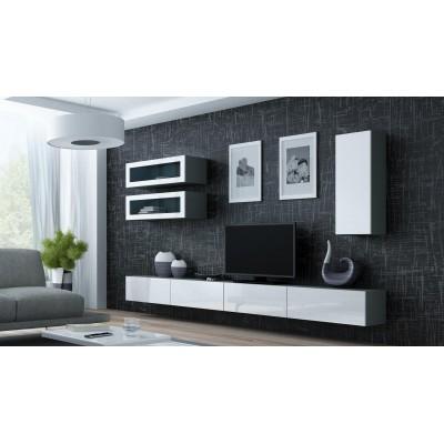 """Cama Cabinet VIGO """"90"""" glass 90/35/32 grey/white gloss"""