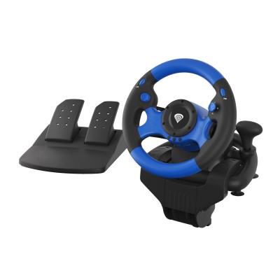 GENESIS SEABORG 350 Steering wheel + Pedals Nintendo Switch,PC,PlayStation 4,Playstation 3,Xbox 360,Xbox One USB Black,Blue
