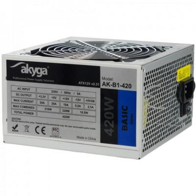 Akyga AK-B1-420 power supply unit 420 W 20+4 pin ATX ATX Gray
