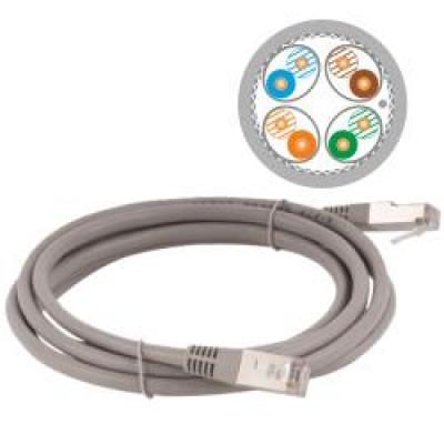 Alantec KKS6ASZA2.0 networking cable 2 m Cat6a S/FTP (S-STP) Grey