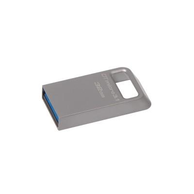 Kingston Technology DataTraveler Micro 3.1 32GB USB flash drive USB Type-A 3.2 Gen 1 (3.1 Gen 1) Metallic