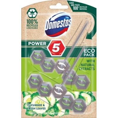 Domestos Power 5 Eco Disinfecting cleaner Solid Cucumber
