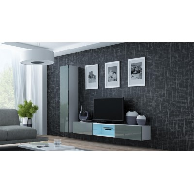 Cama Living room cabinet set VIGO 21 white/grey gloss