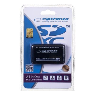 Esperanza EA117 card reader Black USB 2.0
