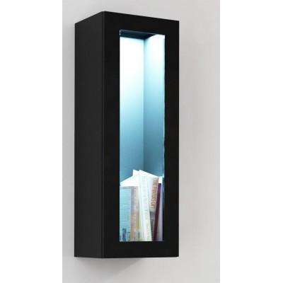 """Cama Cabinet VIGO """"90"""" glass 90/35/32 black/black gloss"""