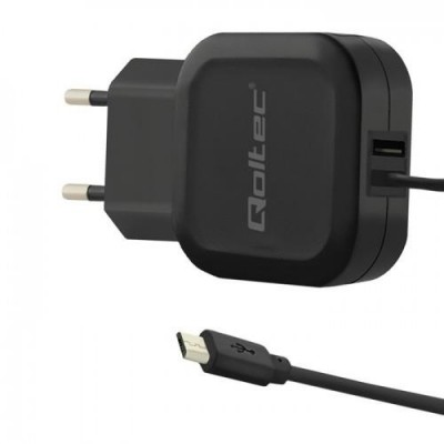 Qoltec 50189 mobile device charger Indoor Black