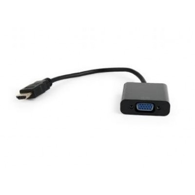 Gembird A-HDMI-VGA-04 video cable adapter 0.15 m Black