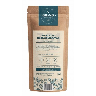Grano Tostado BRAZIL DECAF COFFEE 1 kg