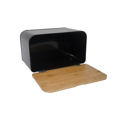Feel-Maestro MR1770 bread box Rectangular Black, Wood Wood