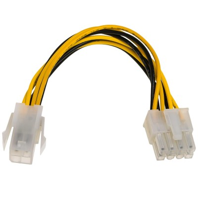 Akyga AK-CA-10 power cable Black/Yellow 0.15 m