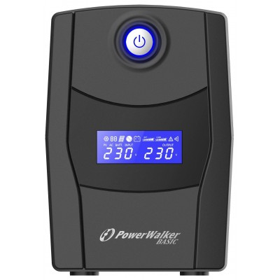 PowerWalker VI 600 STL uninterruptible power supply (UPS) Line-Interactive 600 VA 360 W 2 AC outlet(s)
