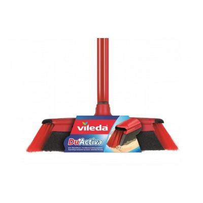 Vileda 143703 broom Indoor Black, Gray, Red Soft / Hard bristle Polyethylene terephthalate (PET),Rubber