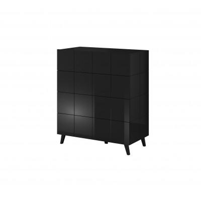 Cama chest of drawers 4D REJA black gloss/black gloss