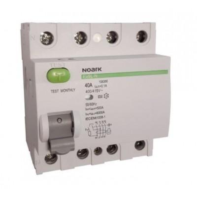 108366 Residual current circuit breakers Noark Ex9L-N 4P 40A A 100mA