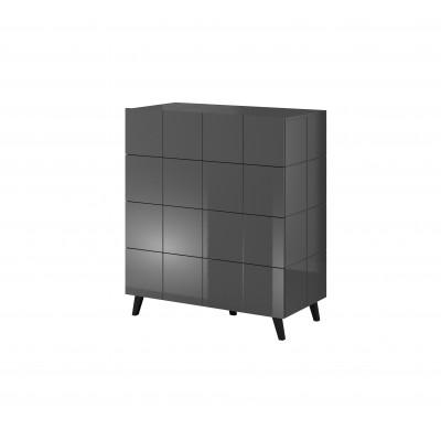 Cama chest of drawers 4D REJA graphite gloss/graphite gloss