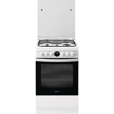 Indesit IS5G8CHW/PO Freestanding cooker Black,White Gas A