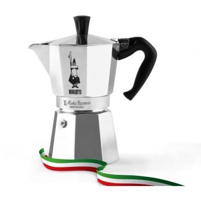 Bialetti Moka Express 6TZ + Perfetto Coffee Moka Nocciola 200g (ground)