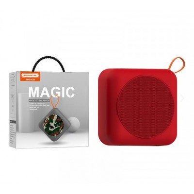 BLUETOOTH SPEAKER SOMOSTEL MAGIC H230 RED 5W - USB + MEMORY CARD READER - WATER RESISTANT