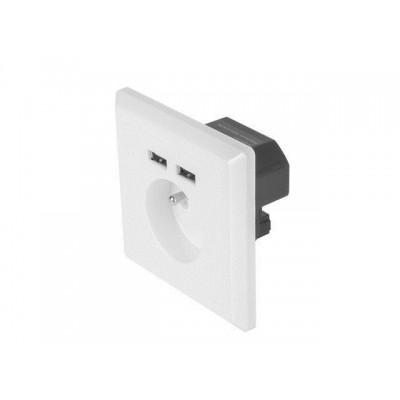 Lanberg AC-WS01-USB2-E socket/socket set