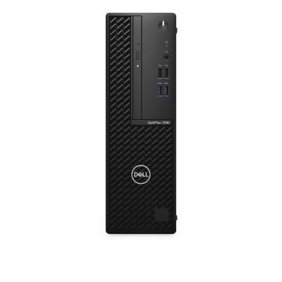 DELL OptiPlex 3080 10th gen Intel® Core™ i3 i3-10100 8 GB DDR4-SDRAM 256 GB SSD SFF Black PC Windows 10 Pro