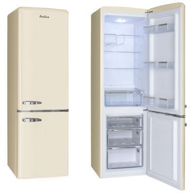 Amica KGCR 387100 B fridge-freezer Freestanding 244 L Beige