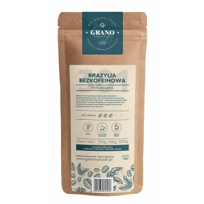 Grano Tostado BRAZIL DECAF COFFEE Coffee, medium ground 500 g