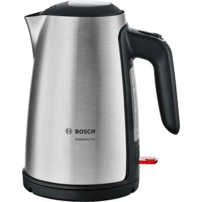 Bosch TWK6A813 electric kettle 1.7 L 2400 W Black, Stainless steel