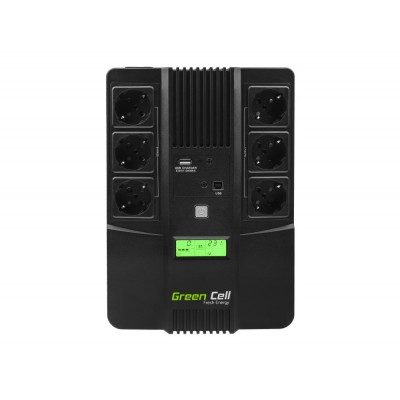 Green Cell AiO 800VA LCD Line-Interactive 480 W 6 AC outlet(s)