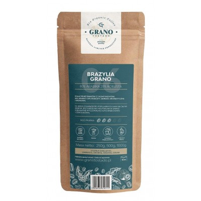 Grano Tostado Brazylia Grano Whole Bean Coffee 1 kg